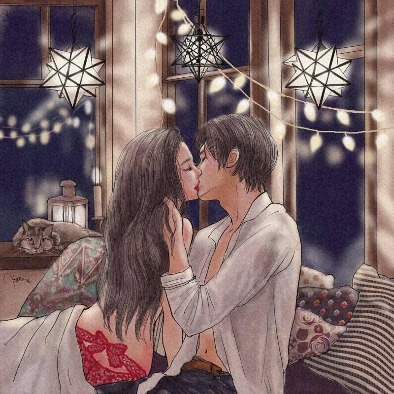 日本插画家平泉春奈笔下的情侣日常,高清无水印的美图