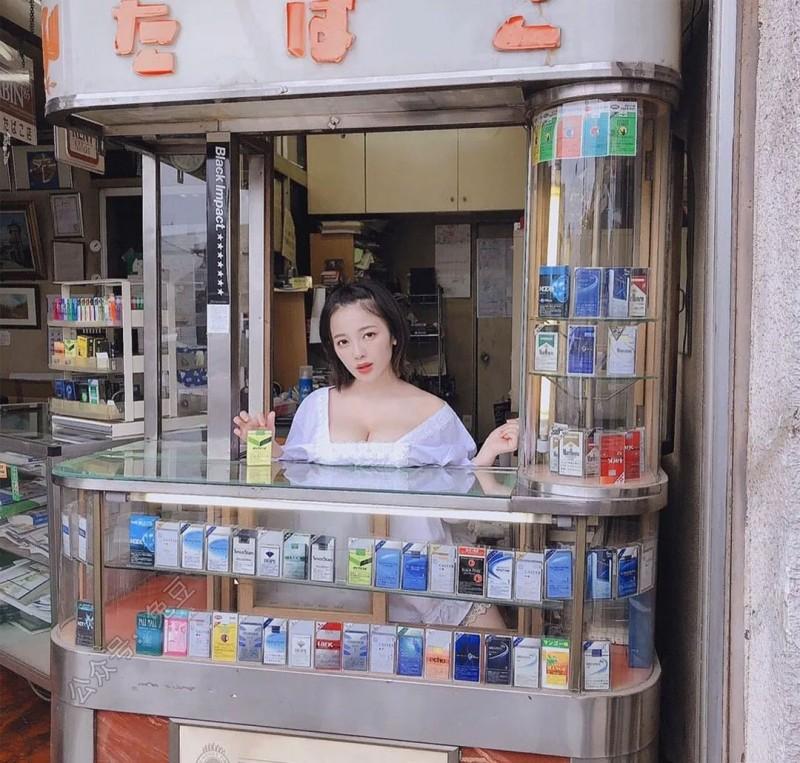 天木纯:找到这个卖烟妹子的组图了